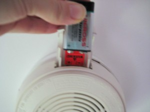 Smoke alarm 6 300x225 How to change a battery in a mains powered smoke alarm