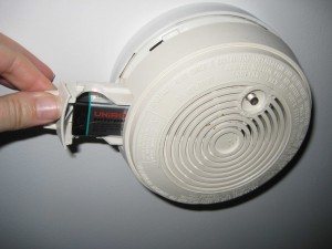 Smoke alarm 7 300x225 How to change a battery in a mains powered smoke alarm