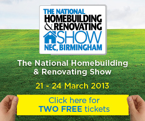 2 free tickets to the National Homebuilding and Renovating show at the NEC