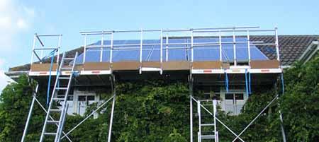 Installing solar panels as a renewable energy source