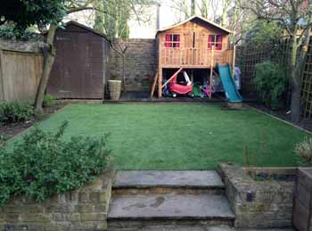 Artificial grass looks great