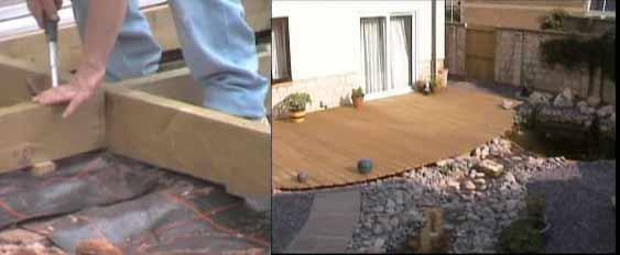 Building a deck in the garden