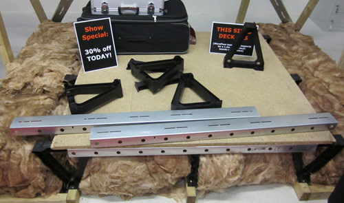 Loft boarding system to allow for more insulation