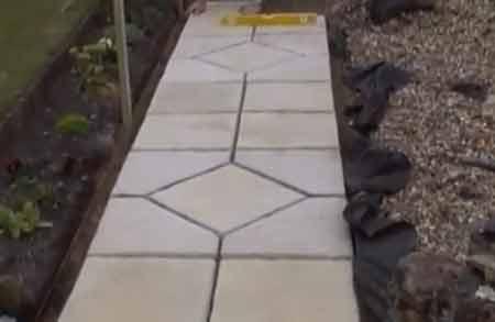 decorative garden path