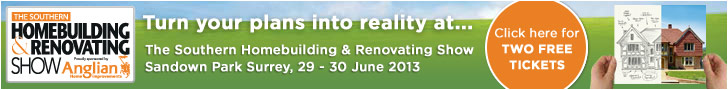 Two Free tickets for the Southern Homebuilding and Renovating Show at Sandown Park in Surrey