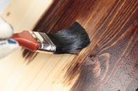 Paint Varnish onto the Timber Door