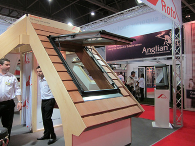 Roto Roof display at Grand Designs Live at Excel in London