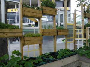 Use DIY window boxes to maximise space for growing