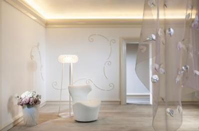 Coving with an inbuilt lighting gutter for uplighting a room - DAVUKA UK