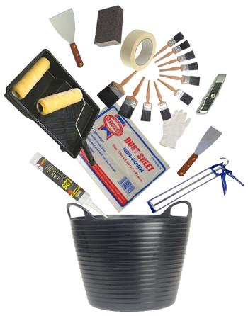DIY Doctor Bargain Bucket Decorating tools