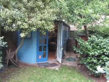 Shed used as a Home Office