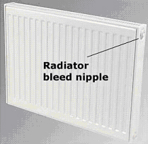 Radiator bleed valve Central Heating Faults – why is my radiator hot at the top and cold at the bottom?