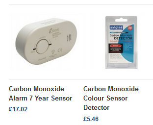 Colour Changing Carbon Monoxide Detector and Battery Powered CO Detector
