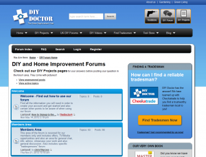 New DIY forum on DIY Doctor
