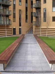 Enviroglass paving social housing project in London 224x300 UK Paving Made From Recycled Glass is Environmentally Friendly and Beautiful