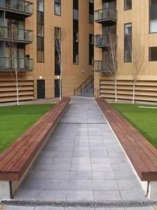 Exterior eco friendly paving