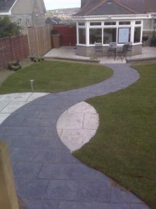 Eco Friendly Paving used in a Private Garden