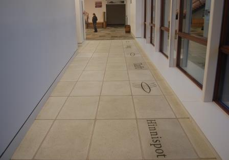 Inlaid and exposed paving in Shetland Museum and Archives UK Paving Made From Recycled Glass is Environmentally Friendly and Beautiful