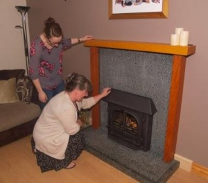 Enviroglass Environmentally Friendly Fireplace Surround