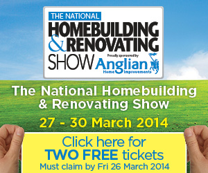 HBR 71800 Na ticket web banners Exhibitor FREE 300x250 2013 STATIC v3 DIY Doctors Tools Arena National Homebuilding and Renovating Show in Birmingham