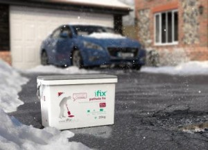iFix Pothole Fix in Winter web 300x216 Get Prepped for Winter – DIY Driveway and Pothole Repair