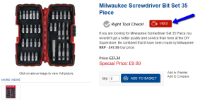 Milwaukee 35 Piece Screwdriver Bit Set
