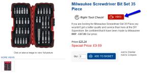 Milwaukee 35 Piece Screwdriver Bit Set
