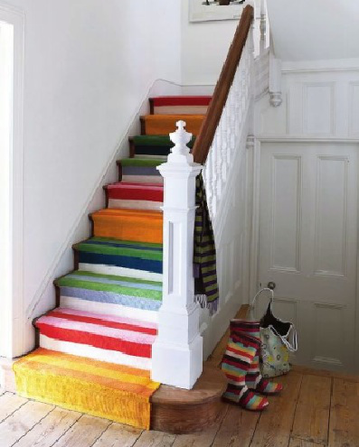 Informal Stripes Stair Runner