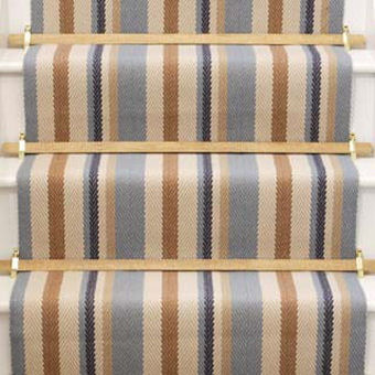 Neutral Stripes Stair Runner