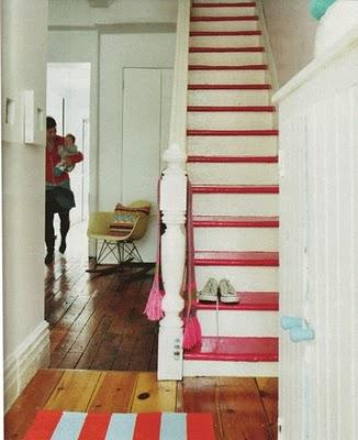 No Carpet - Paint Your Stairs