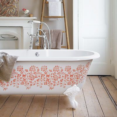 Painted Roll Top Bath