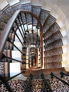 Bold Leopard Print Stair Carpet