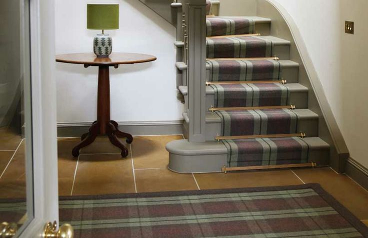 Checked Stair Runner