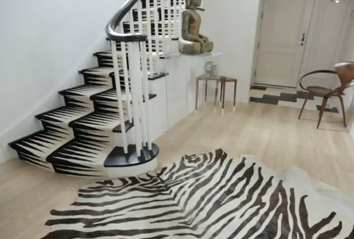 Black and White Stair Carpet