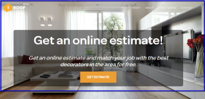 1Roof Website for Instant Quotes
