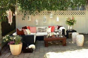 Beautiful patio area with chairs for relaxing