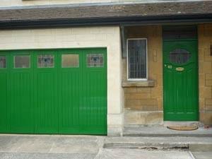 Completed wooden garage doors