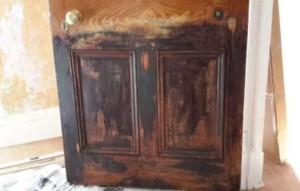 Lead paint on old door