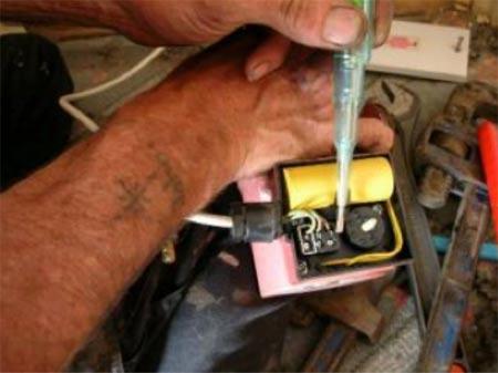 repairing old heating pump