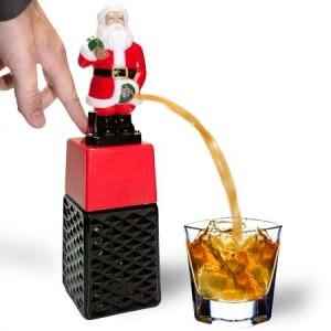 Santa drinks dispenser