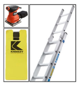 The DIY Doctor Kneezy Kneeler, Zarges Ladder and Flex Sander Competition Winner