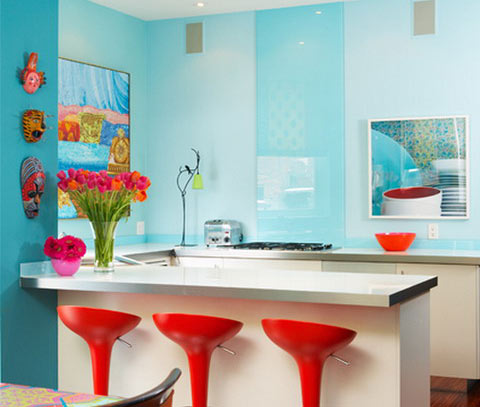 Bright and vibrant kitchen