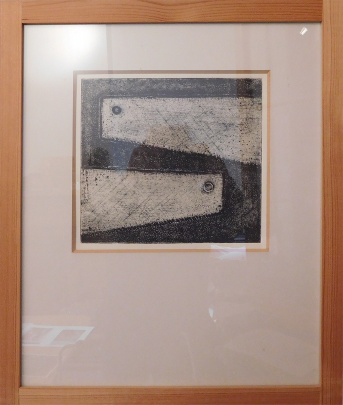 'Tools Series (Saws)' Etching Bill Goldsmith Art Exhibition at Trowbridge Arts