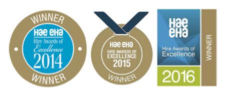 Hire awards won by Hirestation