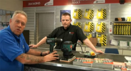 Mike in tool hire shop