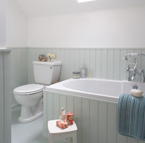 Paint Bathroom Panelling with Liberon Light Grey Hard Wax Oil