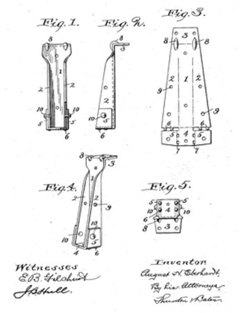 1903 patent for joist hangers