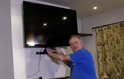 Tranquil Mount TV bracket on the wall