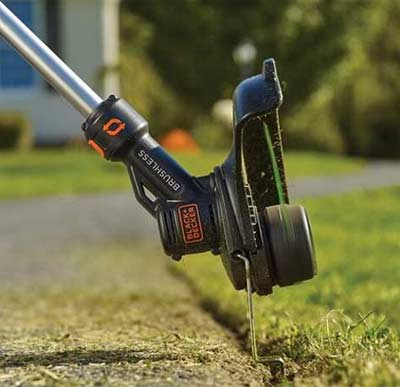 Edging with a strimmer