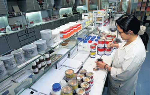 Manufacturing paint